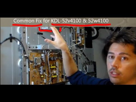 Easy Common Fix for Sony TVs KDL- Red light blinking