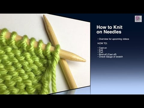 How to Knit - the Purl Stitch - YouTube