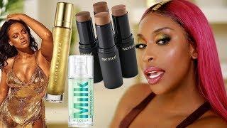 Fenty BODY LAVA?! Milk HydroGrip Primer...? Trying New Makeup! | Jackie Aina by Jackie Aina