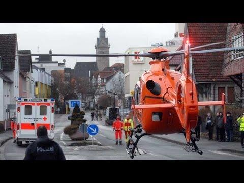 Korbach: Auf Glätte gestürzt, in Klinik geflogen