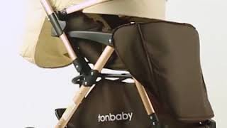 Super Luxury Baby Strollers Ultra-lightweight Folding Travel Baby Stroller Can Sit Can Lie High Land youtube video