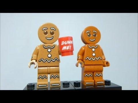 Lego Gingerbread Man Comparison - Series 11 vs. Iconic Gingerbread