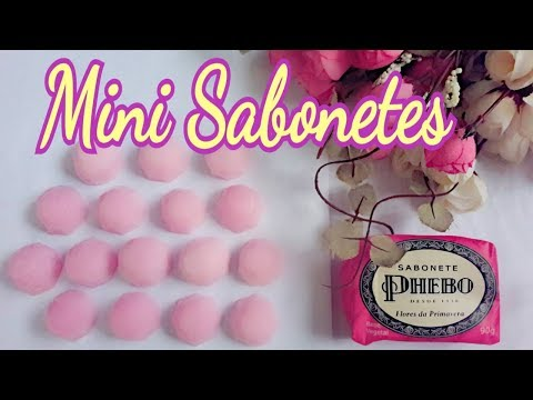 Mini sabonetes   Feito com sabonete Phebo