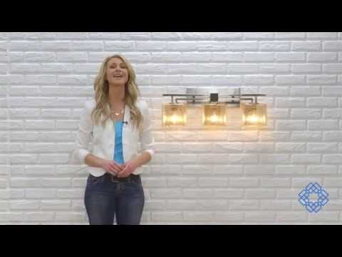 Video for Fusion Aero Three-Light Brushed Nickel Bath Fixture