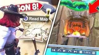 *NEW* HIDDEN TREASURE MAP *FOUND* LEADING PLAYERS TO SECRET TEMPLE DOOR! SEASON 8 UPDATE!: BR