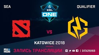 New Begining vs Next Gen Aorus, ESL One Katowice SEA, game 1 [Autodesctruction]