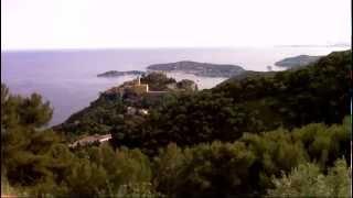 2 Day Time Lapse of Cote D'azur & Mediterranean, above Eze Village, at Domaine Pins Paul