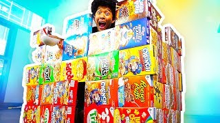 Cereal Box Castle Fort!!!!!