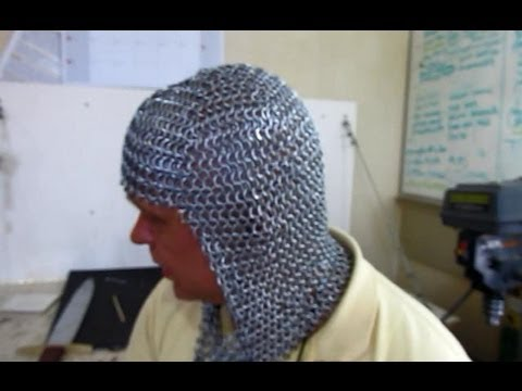 How to Make a ChainMail Coif (armor headpiece)