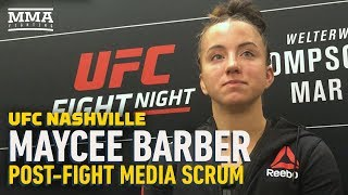 UFC Nashville: After TKO Win, Maycee Barber Vows She Is A 'Different Fighter' At 125