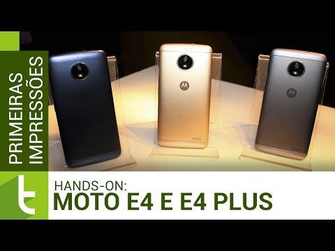 Moto E4 e Moto E4 Plus: hands-on e primeiras impressões  TudoCelular.com
