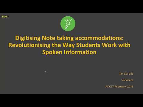 Good evening messages - ADCET Webinar: Digitising Note taking Accommodations