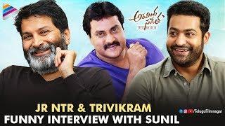 Video Jr NTR And Trivikram Funny Interview With Sunil   Aravindha Sametha   Pooja Hegde MP3, 3GP, MP4, WEBM, AVI, FLV Oktober 2018