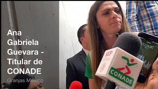 CONADE obligará y supervisarán el trabajo de las federaciones deportivas: Ana Gabriela Guevara