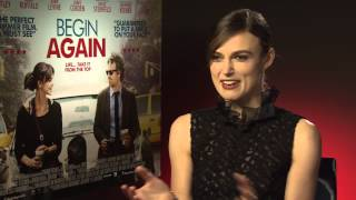 """Keira Knightley on Begin Again: """"I wish when I sung, I sounded like Adele"""" 2014 interview"""