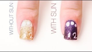 Graduation Color-Changing Nail Art Design
