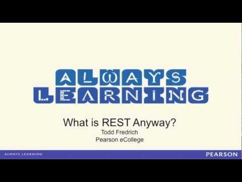 rest - http://www.RestApiTutorial.com - Todd Fredrich from Pearson eCollege goes over the basic principles behind REST. Learn about REST practices by visiting the s...