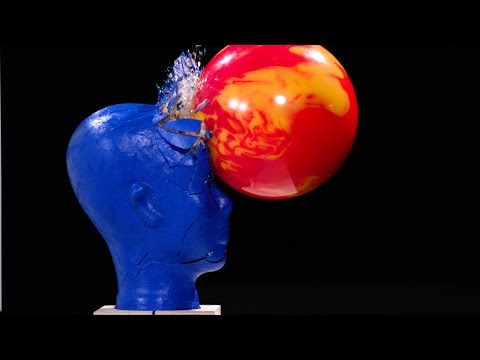 The Slow Mo Guys and the Blue Man Group Created Slow Motion Art Using Bowling