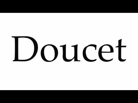 How to Pronounce Doucet