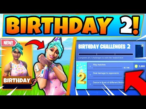 *NEW* BIRTHDAY EVENT 2! - Free Skins, Rewards, And Challenges In Fortnite Battle Royale!