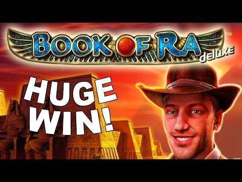 HUGE WIN on Book of Ra Slot -