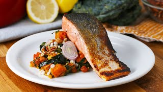 Seared Salmon with Smoky Squash Salad by Tasty