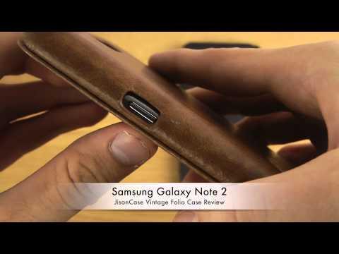 Samsung Galaxy Note 2 – JisonCase Vintage Folio Case Review