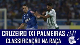 Faltou técnica, mas sobrou emoção no duelo entre Cruzeiro e Palmeiras, pelas quartas de final da Copa do Brasil. Em um Mineirão lotado, Keno abriu o placar para o time paulista em um chute de sorte que desviou em Romero e traiu Fábio. Mas já depois dos 40 do segundo tempo, Diogo Barbosa fez de cabeça o gol da nossa classificação. Confira os melhores momentos. CLASSIFICAMOS! AJUDA NÓIS! DEIXA SEU LIKE, COMPARTILHE O VÍDEO COM OS AMIGOS E SE INSCREVA NO CANAL! REDES SOCIAIS DO SEIS A UM:Facebook: https://www.facebook.com/canal6a1Instagram: https://www.instagram.com/seisaumTwitter: https://www.twitter.com/canal6a1