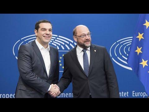 Συνάντηση του Πρωθυπουργού Α. Τσίπρα με τον Πρόεδρο του Ευρωπαϊκού Κοινοβουλίου Μάρτιν Σούλτς
