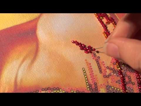 Вышивка бисером для новичков ➲ ➲ ➲ линейная вышивка бисером или МОНАСТЫРСКИЙ ШОВ .