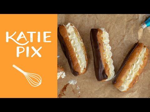 Paul Hollywood's Chocolate Éclairs Recipe   #GBBO   Katie Pix