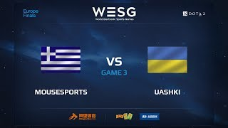 Mousesports против UAshki, Третья карта, WESG 2017 Dota 2 European Qualifier Finals