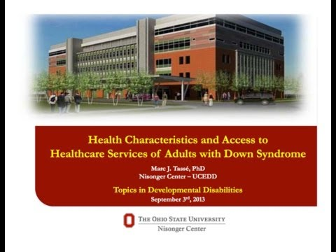 Watch video Health Characteristics & Services of Adults with Down Syndrome