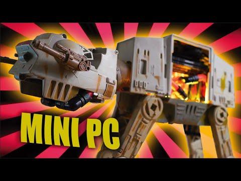 ¿Un PC gamer en miniatura con líquida? Star Wars ATAT Mod - APU RYZEN