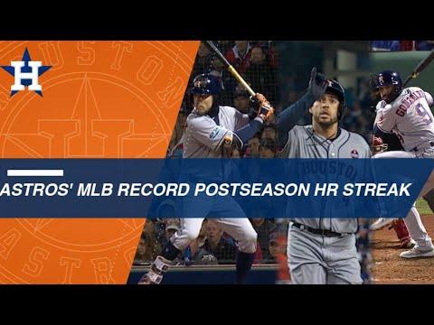 Video: Astros' postseason homer streak sets MLB mark at 14