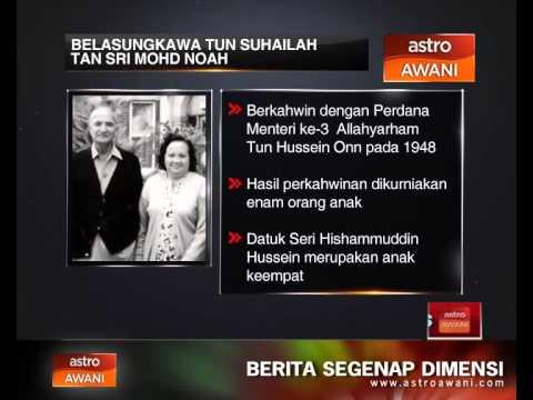 Belasungkawa Tun Suhailah Tan Sri Mohd Noah