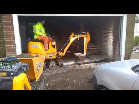 Video DMS micro digger hire. JCB Micro digger working inside a garage. download in MP3, 3GP, MP4, WEBM, AVI, FLV January 2017