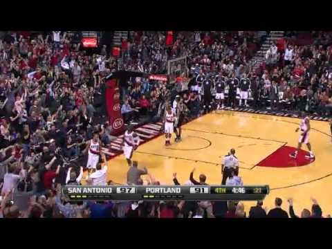 Nicolas Batum's circus shot against Spurs