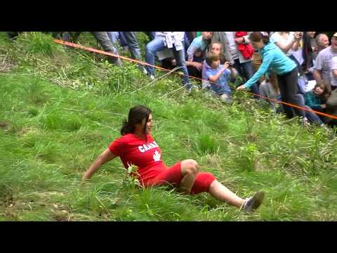 Cheese Rolling at Cooper's Hill, Gloucestershire, 2014