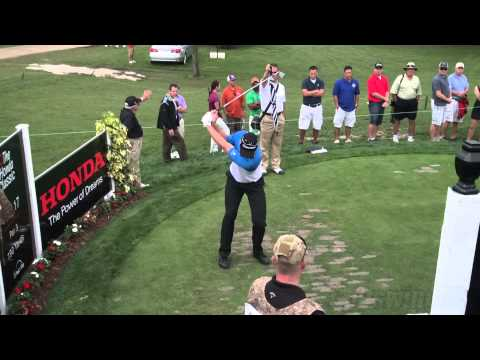 GOLF SWING 2013 – JUSTIN ROSE IRON – FACE ON ELEVATED & SLOW MOTION – HQ 1080p HD