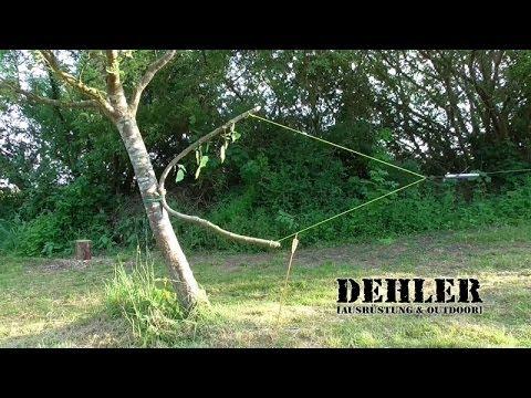 Haselnuss als Bogenholz - Bruchtest (Selfbow with Hazelnut - breaking-test)