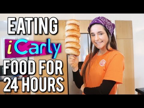 EATING iCARLY FOOD FOR 24 HOURS