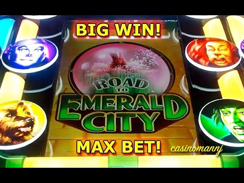 Wizard of Oz – Road to Emerald City – MAX BET! – BIG WIN! – Slot Machine Bonus