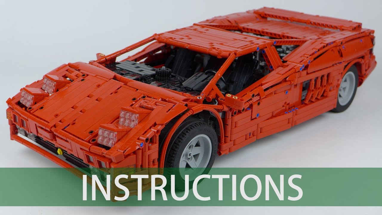 LEGO Technic Cizeta V16T building instructions