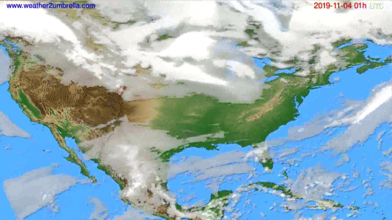 Cloud forecast USA & Canada // modelrun: 00h UTC 2019-11-03