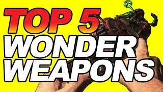 TOP 5 Wonder Weapons in Call of Duty Black Ops 3 Zombies including the Zombies Chronicles DLC 5. SUB TO JIMBOTHY -- ROAD TO 800K  http://bit.ly/SubToJimbothyFOLLOW ME ON TWITTER: http://twitter.com/TheJimbothyTWITCH TV: http://bit.ly/JimbothyOnTwitchART BY: https://twitter.com/LeittenArtLEITTEN'S WEBSITE: http://leittenart.weebly.com/This video features gameplay from the PS4 version of Call of Duty Black Ops 3 (2015). OTHER VIDEOS:BLACK OPS 2: DESTROY the PACK A PUNCH MACHINE Easter Egg! (WORLD RECORD) FIRST IN THE WORLD! : https://youtu.be/6LiEy-EaVrkZOMBIES CHRONICLES: I BROKE KINO EASTER EGG (UNLIMITED WALL WEAPONS): https://youtu.be/KYuRjt68-_wDLC 5: ORIGINS WUNDERWAFFE DG 2 EASTER EGG ZOMBIES CHRONICLES BLACK OPS 2 EASTER EGG! (WORLD RECORD):https://youtu.be/Zcmq8wXrq1UZOMBIES CHRONICLES: how to get MOB of the DEAD EASTER EGG (HIDDEN MAP) (DLC 6) (WORLD RECORD):  https://www.youtube.com/watch?v=Tzzc9EkoMacDLC 5: PHD FLOPPER EASTER EGG - I FOUND IT! I FOUND PHD FLOPPER! (HIDDEN PERK ZOMBIES CHRONICLES): https://youtu.be/qEPSH-dN3ZwDLC 5: 5th STAFF EASTER EGG in ORIGINS for ZOMBIES CHRONICLES DLC 5:https://www.youtube.com/watch?v=bLUmNQFdplwBLACK OPS 3: DONALD TRUMP EASTER EGG: https://youtu.be/JXkBWy6jsAsBLACK OPS 2: HOW TO GET A GOLDEN RAYGUN (HIDDEN WONDER WEAPON) - ZOMBIES - JIMBOTHY: https://youtu.be/xcO5fgypjFYBLACK OPS 3 ZOMBIES: HOW TO GET TAKEO'S SWORD EASTER EGG! (SECRET KATANA WEAPON) IN THE GIANT!: https://youtu.be/RU0_O8hUS4IBLACK OPS 3 ZOMBIES: DESTROY THE MOON EASTER EGG! (THE GIANT): https://youtu.be/5bdkGOJyFBQBLACK OPS 2 EASTER EGG HOW TO GET A JETGUN IN CAMPAIGN NEW WONDER WEAPON): https://youtu.be/Dms86MjtozA