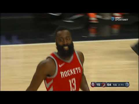 James Harden hits dagger three over Damian Lillard