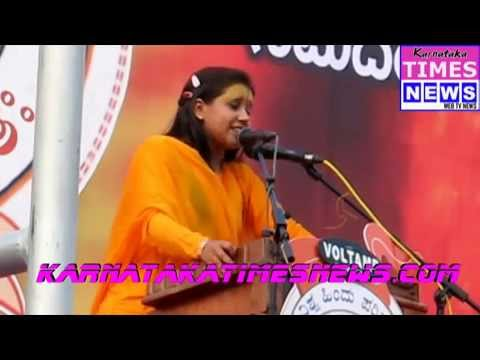 Sadhvi Balika Saraswati addressing Virat Hindu Samajotsava in Mangaluru