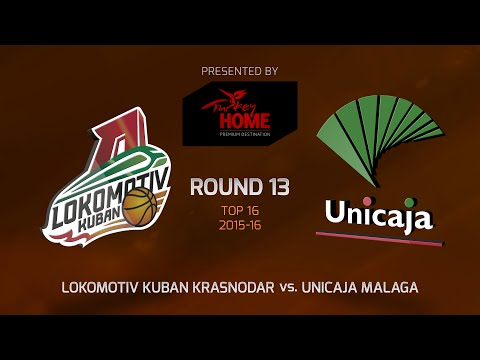 Highlights: Top 16, Round 13, Lokomotiv Kuban Krasnodar 81-60 Unicaja Malaga