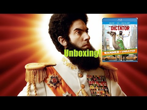 The Dictator Unrated Blu-Ray + DVD + Ultraviolet Unboxing!!